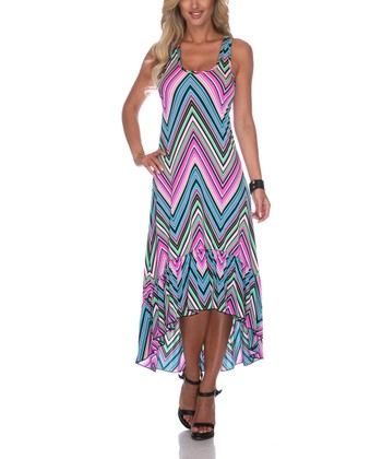 Pink Zigzag Hi-Low Dress