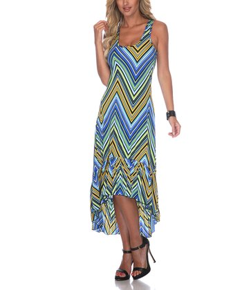 Yellow Zigzag Hi-Low Dress