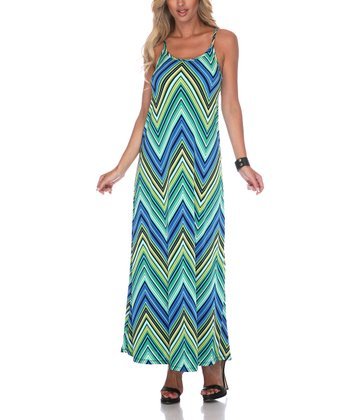 Green Zigzag Maxi Dress - Women