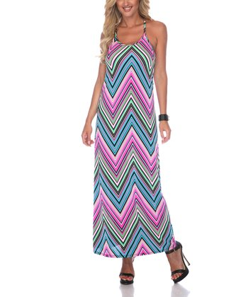Pink Zigzag Maxi Dress