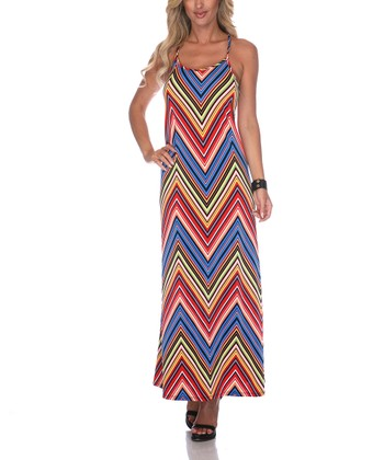 Red Zigzag Maxi Dress - Women