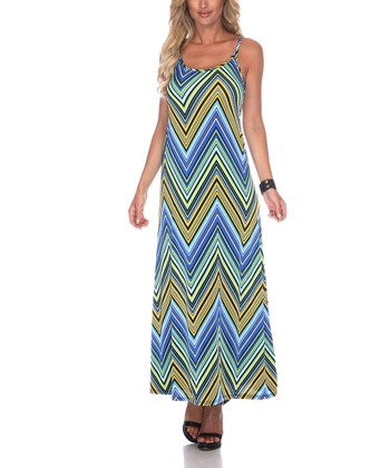 Yellow Zigzag Maxi Dress - Women