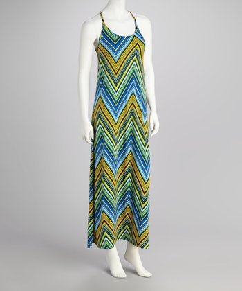 Yellow Zigzag Maxi Dress