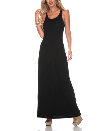 Black Racerback Maxi Dress