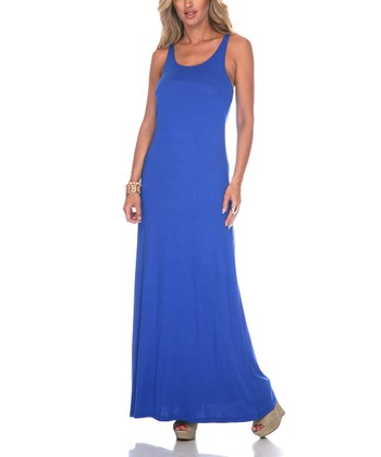 Royal Blue Racerback Maxi Dress