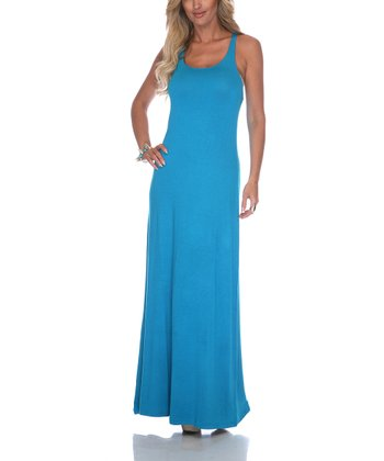 Teal Racerback Maxi Dress