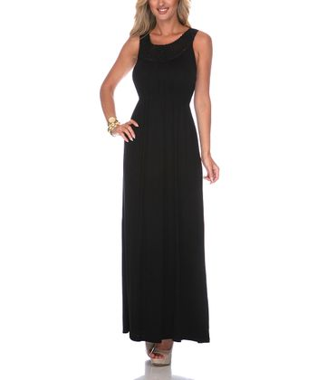 Black Crocheted Maxi Dress