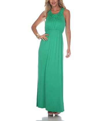 Green Crocheted Maxi Dress