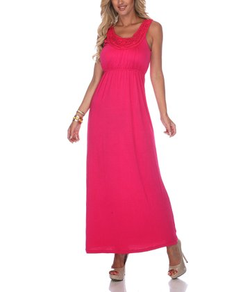 Pink Crocheted Maxi Dress