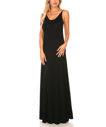 Black Scoop Back Maxi Dress