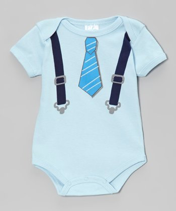 Blue Tie & Suspenders Bodysuit - Infant