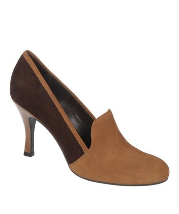 Chocolate & Camel Suede Riva Pump