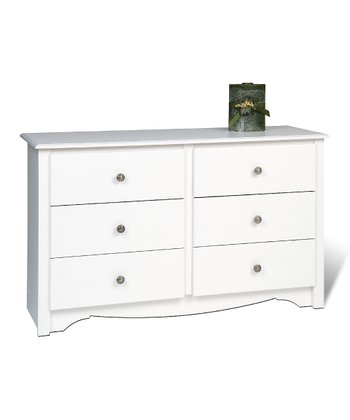 White Monterey Six-Drawer Kids' Dresser