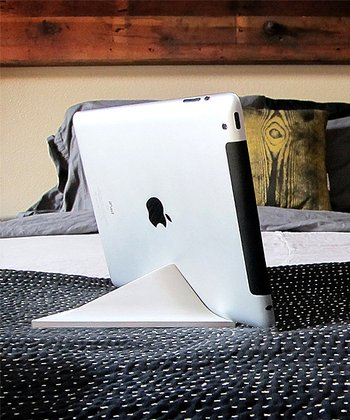 White Facet Stand for iPad