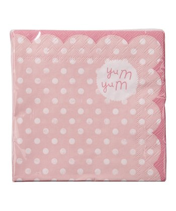 Pink cocktail napkin set of 20