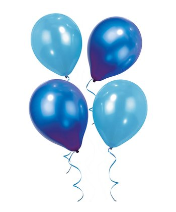 Blue balloons set of 12.