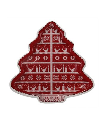 Knitted Noel Tree Platter - Set of Two