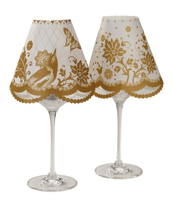Wine Glass Lampshade Table Décor - Set of Six
