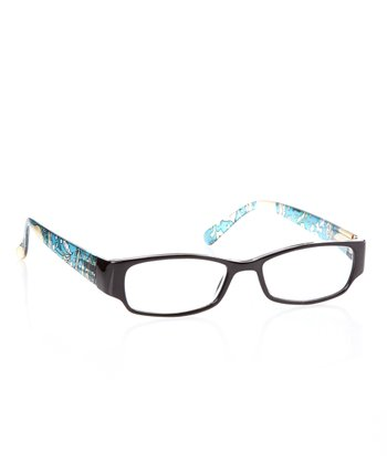 Black & Turquoise Paisley Readers