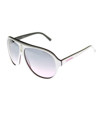 White & Pink Pilot Sunglasses