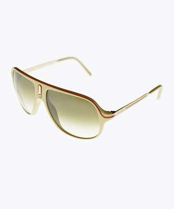 Red & Gold Safari Pilot Sunglasses