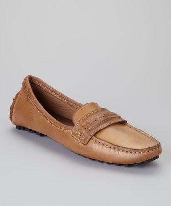 Benz Brown Stone Wash Formula 1 Loafer