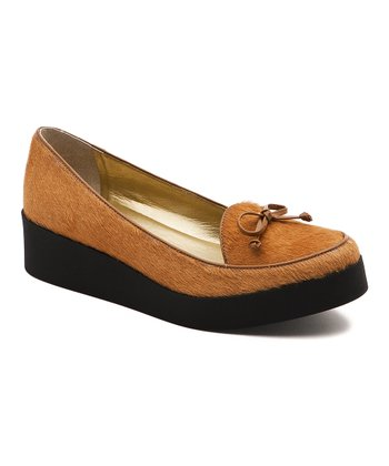 Camel Hair Calf Antwerp Platform Shoe