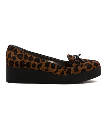 Leopard Pony Hair Antwerp Platform Shoe