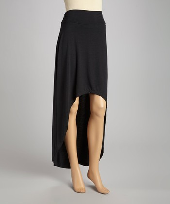 Black Hi-Low Maxi Skirt