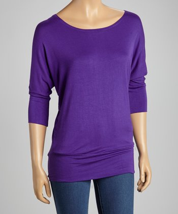 Crazy Purple Boatneck Top
