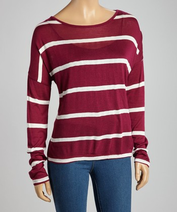 Rose & Ivory Stripe Top