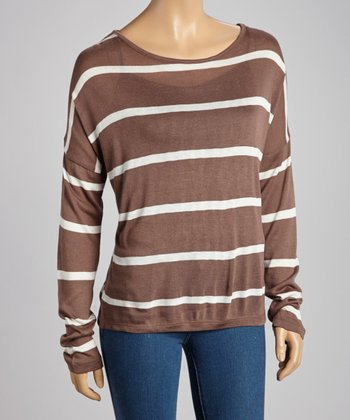 Mocha & Ivory Stripe Top