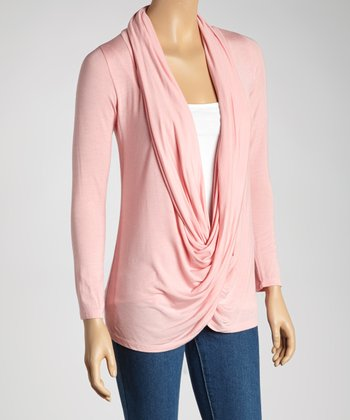 Pink Twist Drape Top