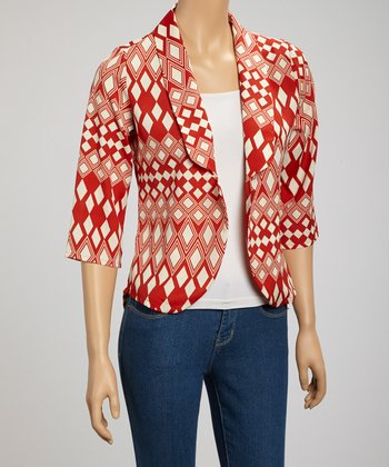 Red Geometric Jacket