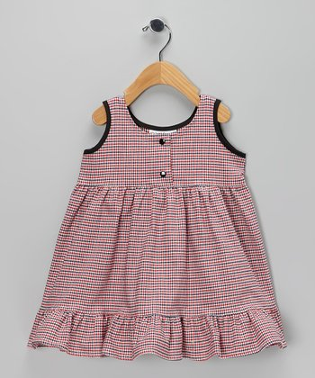 Red & Blue Plaid Ruffle Dress - Infant, Toddler & Girls