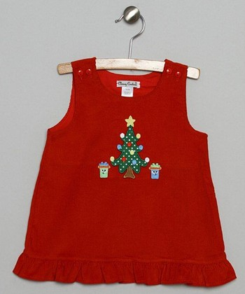 Red Tree Corduroy Jumper - Infant & Toddler