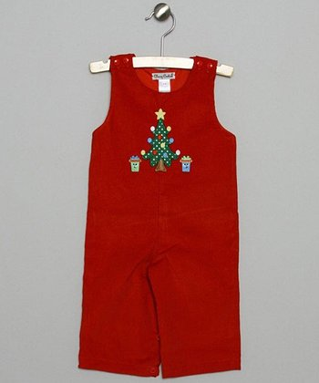 Red Tree Corduroy Overalls - Infant