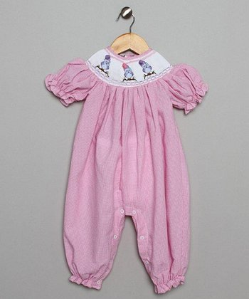 Pink Owl Bubble Playsuit - Infant