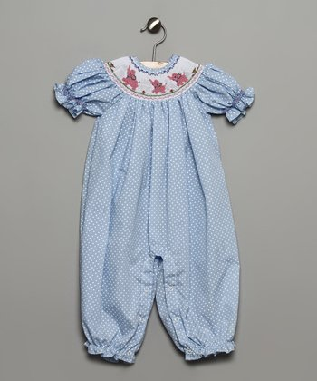 Blue Elephant Bubble Playsuit - Infant