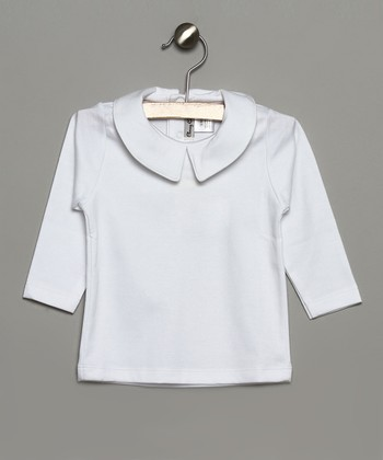 White Collar Long-Sleeve Top - Infant & Toddler