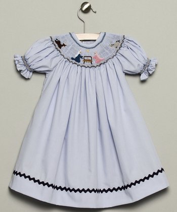 Blue Nativity Bishop Dress - Infant & Toddler