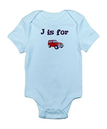 Sky Blue 'J Is for Jeep' Bodysuit - Infant