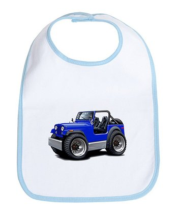 Sky Blue Jeep Bib