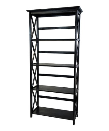 Black Five-Tier Montego Bookcase