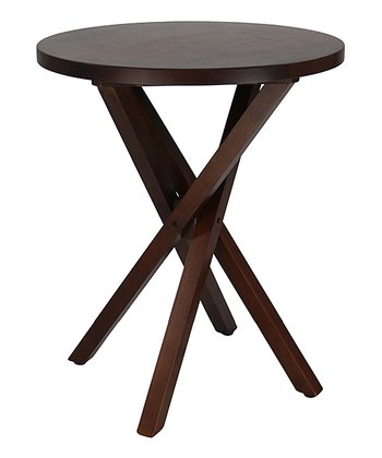 Espresso Crisscross Walnut Table