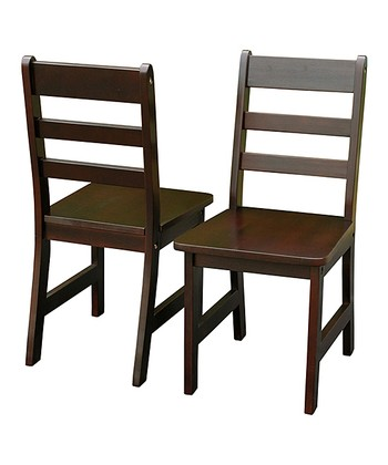 Espresso Kids' Chair - Set of Two