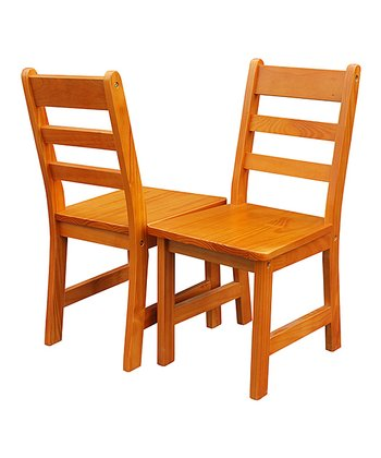 Pecan Kids' Chair - Set of Two