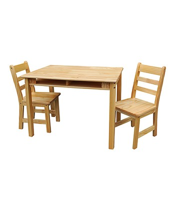 Natural Kids' Three-Piece Table & Chair Set