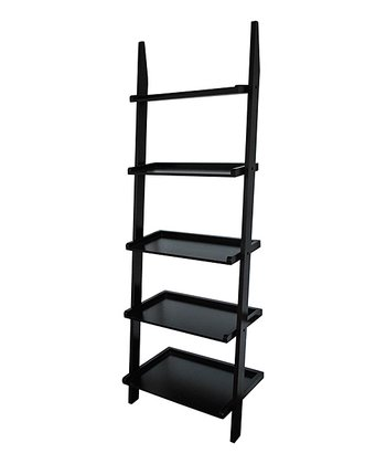 Black Five-Tier Ladder Shelf