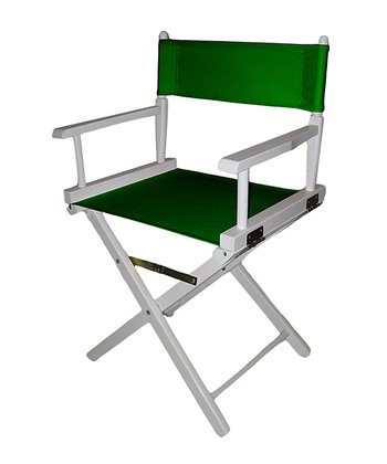 Green & White Director's Chair